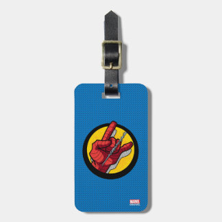 Spider-Man Web Slinging Hand Icon Tags For Bags