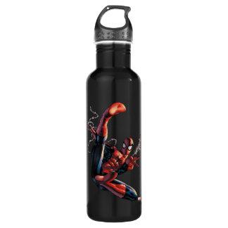 Spider-Man Web Slinging In City Marker Drawing