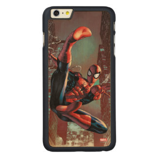 Spider-Man Web Slinging In City Marker Drawing Carved® Maple iPhone 6 Plus Case