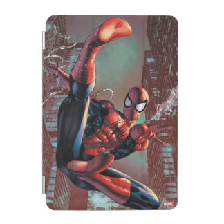 Spider-Man Web Slinging In City Marker Drawing iPad Mini Cover