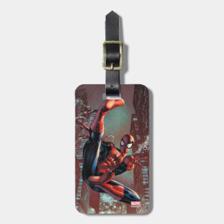 Spider-Man Web Slinging In City Marker Drawing Luggage Tag