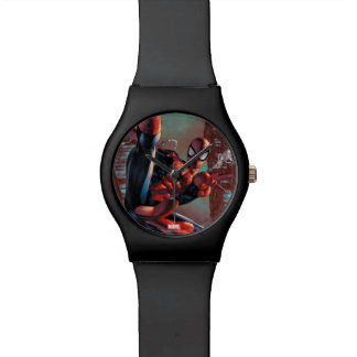 Spider-Man Web Slinging In City Marker Drawing Watches