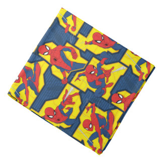 Spider-Man Web Slinging Panel Pattern Bandana