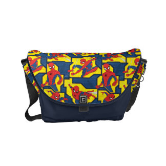 Spider-Man Web Slinging Panel Pattern Courier Bags