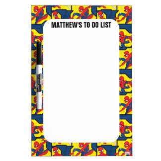 Spider-Man Web Slinging Panel Pattern Dry-Erase Board