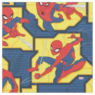 Spider-Man Web Slinging Panel Pattern Fabric