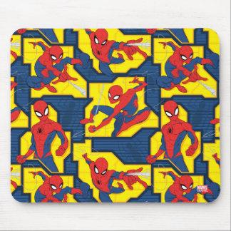 Spider-Man Web Slinging Panel Pattern Mouse Pad