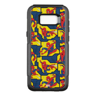 Spider-Man Web Slinging Panel Pattern OtterBox Commuter Samsung Galaxy S8+ Case