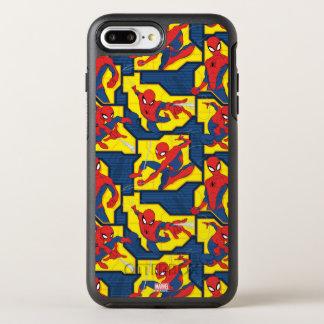 Spider-Man Web Slinging Panel Pattern OtterBox Symmetry iPhone 8 Plus/7 Plus Case