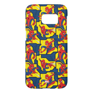 Spider-Man Web Slinging Panel Pattern Samsung Galaxy S7 Case