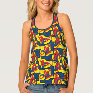 Spider-Man Web Slinging Panel Pattern Tank Top