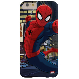 Spider-Man Web Slinging Through Traffic Barely There iPhone 6 Plus Case