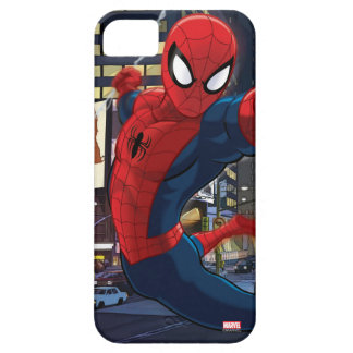 Spider-Man Web Slinging Through Traffic Case For The iPhone 5