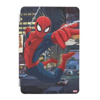 Spider-Man Web Slinging Through Traffic iPad Mini Cover