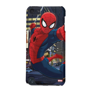 Spider-Man Web Slinging Through Traffic iPod Touch (5th Generation) Cover