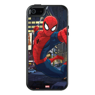 Spider-Man Web Slinging Through Traffic OtterBox iPhone 5/5s/SE Case