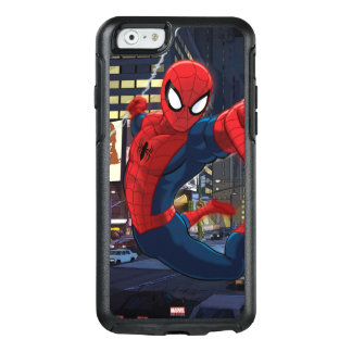 Spider-Man Web Slinging Through Traffic OtterBox iPhone 6/6s Case
