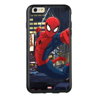 Spider-Man Web Slinging Through Traffic OtterBox iPhone 6/6s Plus Case
