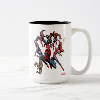 Spider-Man Web Warriors Gallery Art Two-Tone Coffee Mug
