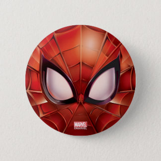 Spider-Man Webbed Mask 2 Inch Round Button