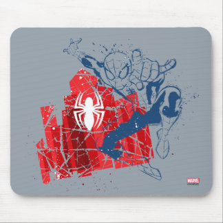 Spider-Man Worn Graphic Mouse Pad