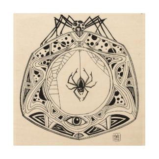 Spider Mandala on wood panel