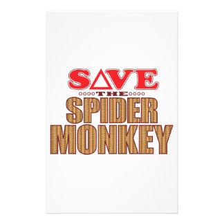Spider Monkey Save Personalized Stationery