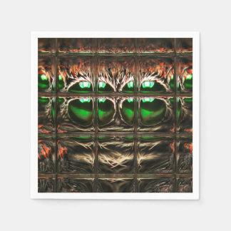 Spider mosaic disposable napkin