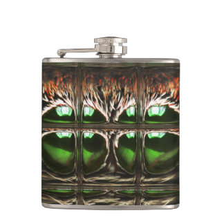Spider mosaic hip flask