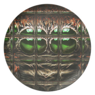 Spider mosaic party plate