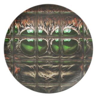 Spider mosaic plate