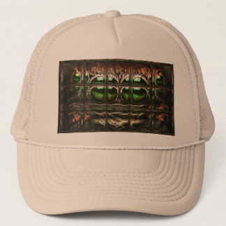 Spider mosaic trucker hat