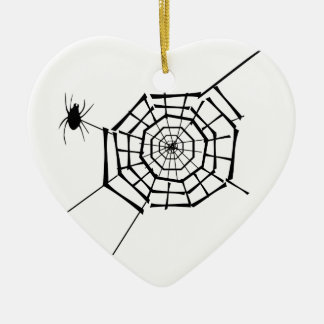 spider nest ceramic ornament