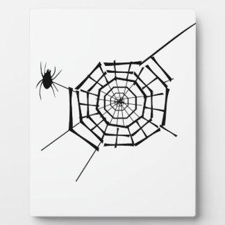 spider nest plaque