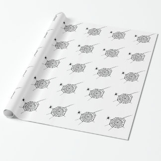 spider nest wrapping paper