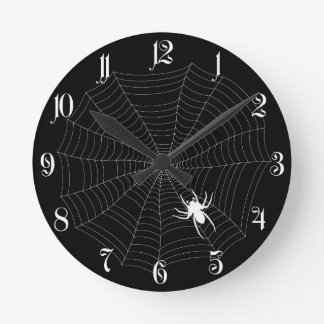 Spider net round clock