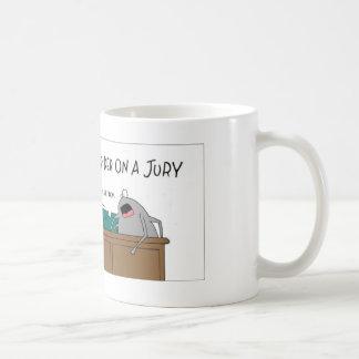 Spider on a jury coffee mug