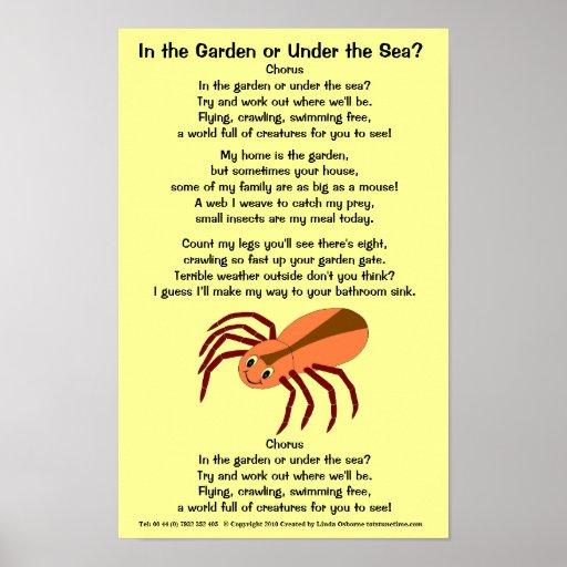 Spider Poem Poster