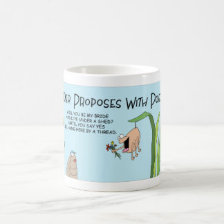 Spider proposes coffee mug