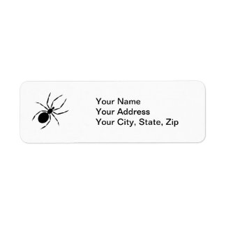 Spider Return Address Label