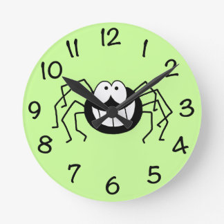 Spider Round Clock