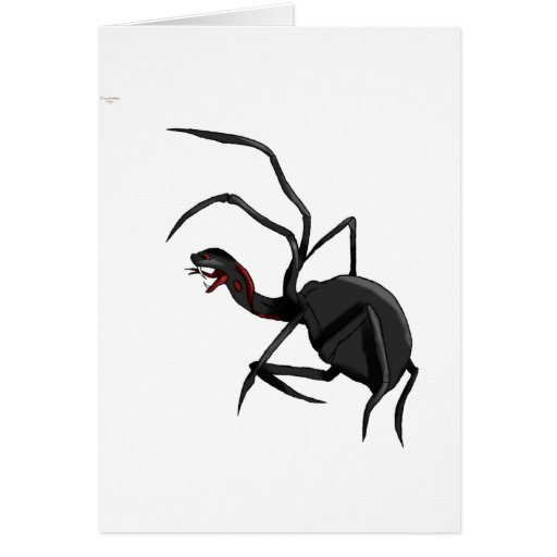 spider snake greeting card
