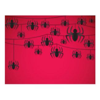 Spider string postcard