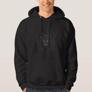 Spider Sugar Skull (dark) Hooded Pullovers