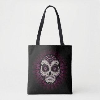 Spider Sugar Skull Dia de los Muertos - Tote Bag