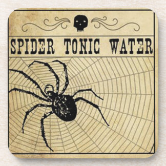 Spider Tonic Water Halloween Coaster