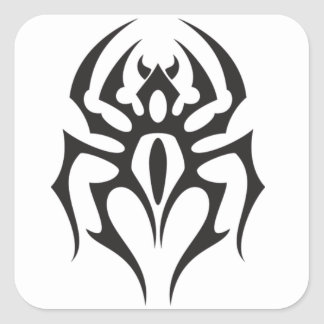 Spider Tribal Tattoo Square Sticker