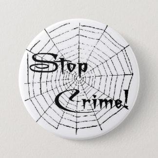 Spider web 3 inch round button