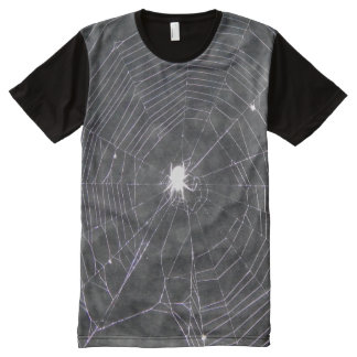 Spider Web At Night All-Over-Print T-Shirt