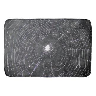 Spider Web At Night Bath Mat